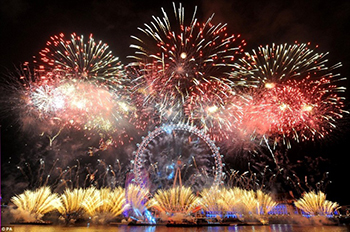 Thames Party Cruises offer the best views of the London New Year's Eve Fireworks