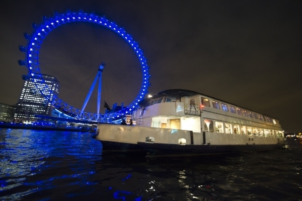 An example of a Thames Party Boat used for the Christmas Thames Party Cruise