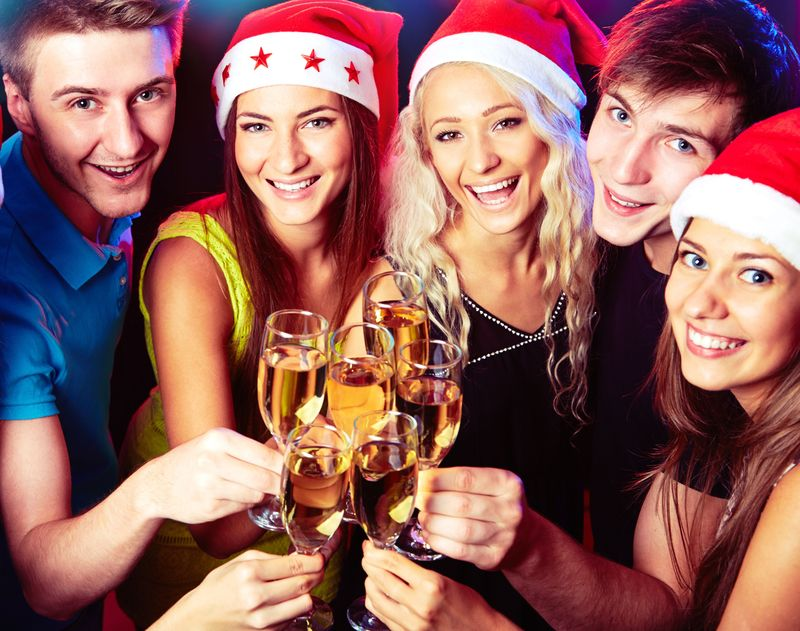 Raise your glasses to Christmas! The drinks are free flowing on a Thames Party Cruise.